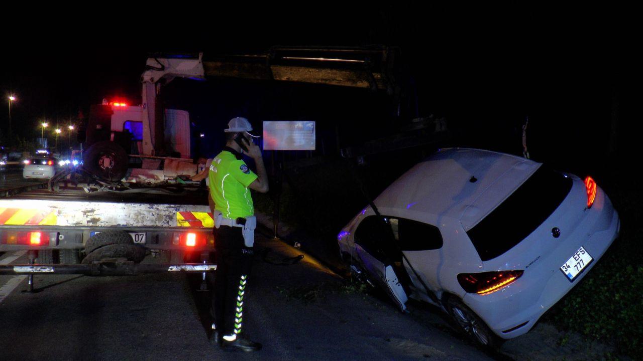 Makas atarak ilerleyen otomobilin sonu kötü oldu! Otomobil ağaçlık alana uçtu! video - Sayfa 4
