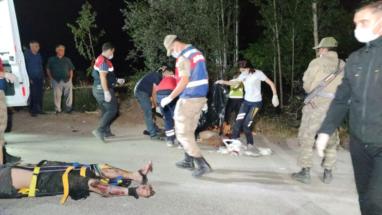 Van'ın Muradiye İlçesi'nde kaçak mülteci taşıyan minibüs kaza yaptı! Çok sayıda ölü ve  yaralı var - Sayfa 3