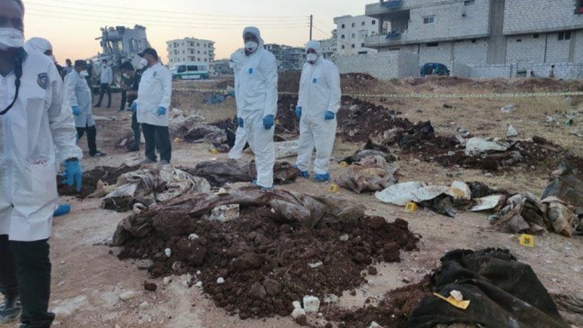 Afrin'de PKK katliamı: Toplu mezar bulundu
