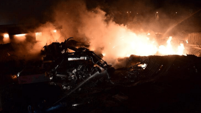 Kahramanmaraş'ta fabrikada korkutan yangın!
