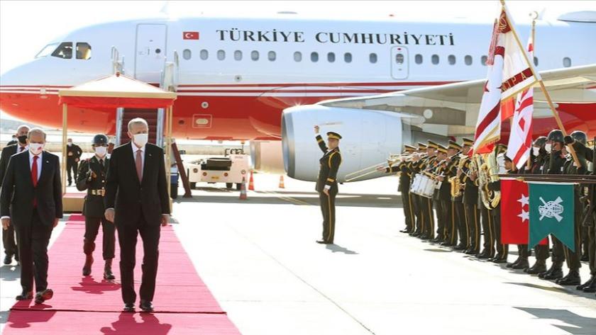 Cumhurbaşkanı Erdoğan Kuzey Kıbrıs'ta