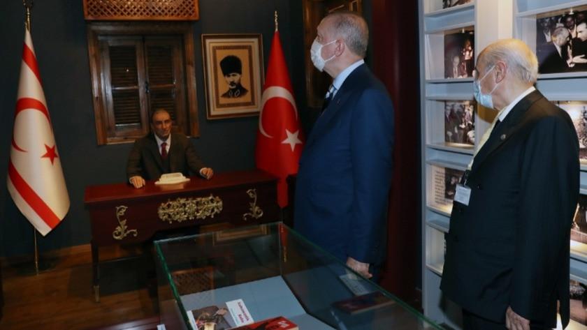 Erdoğan ve Bahçeli'den Türkeş'in doğduğu eve bayram ziyareti!
