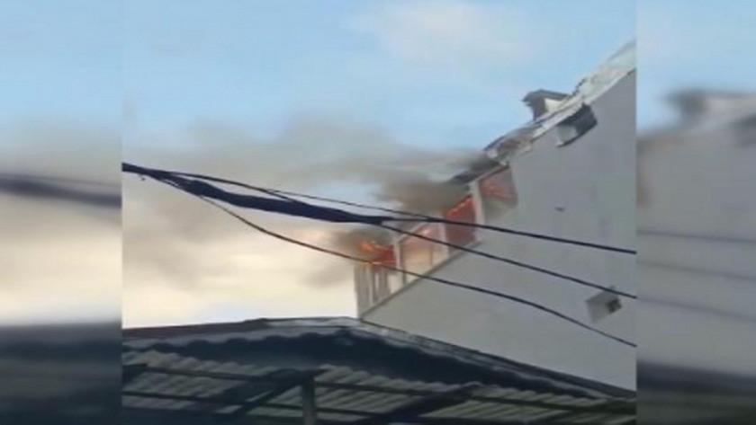 Mangal yakmak isteyen ailenin evinde yangın !