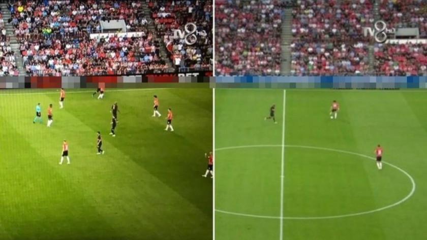 Maç yayınında yasa dışı bahis sitesi reklamı