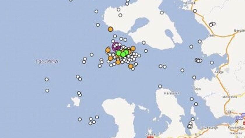 Ege Denizi beşik gib sallanıyor! AFAD: İzmir açıklarında son 1 saatte 47 adet deprem meydana geldi!