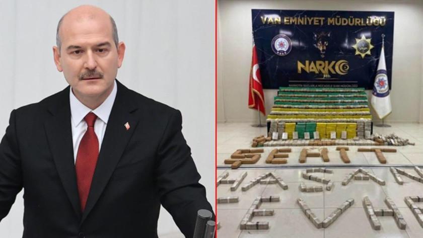Bakan Soylu, 449 kilo eroin ele geçiren güvenlik güçlerini kutladı