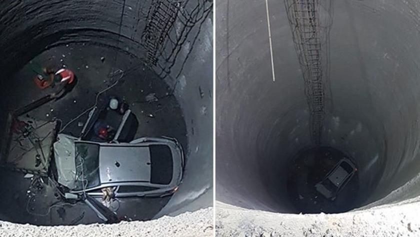 İzmir'de otomobil metro inşaatına düştü! Finlandiya vatandaşı öldü