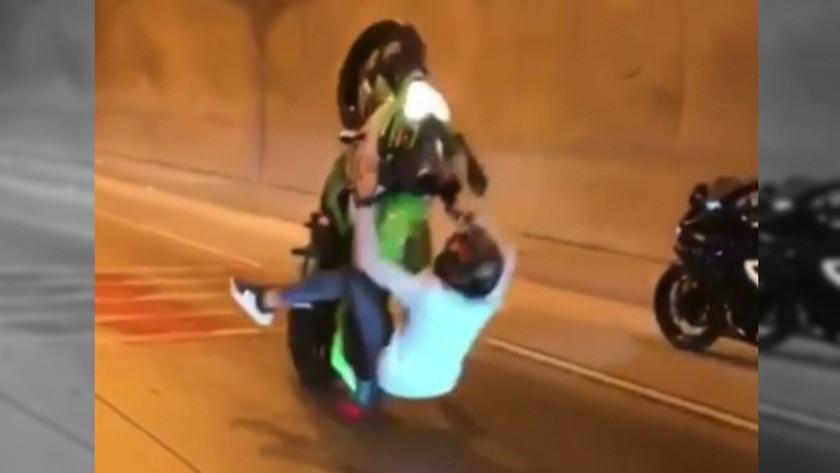 Motosikletli gencin korkunç kazası saniye saniye kaydedildi