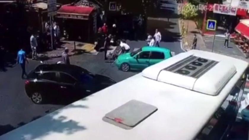 Hırsız, kaza yapan sosyal medya fenomenin cep telefonunu böyle çaldı