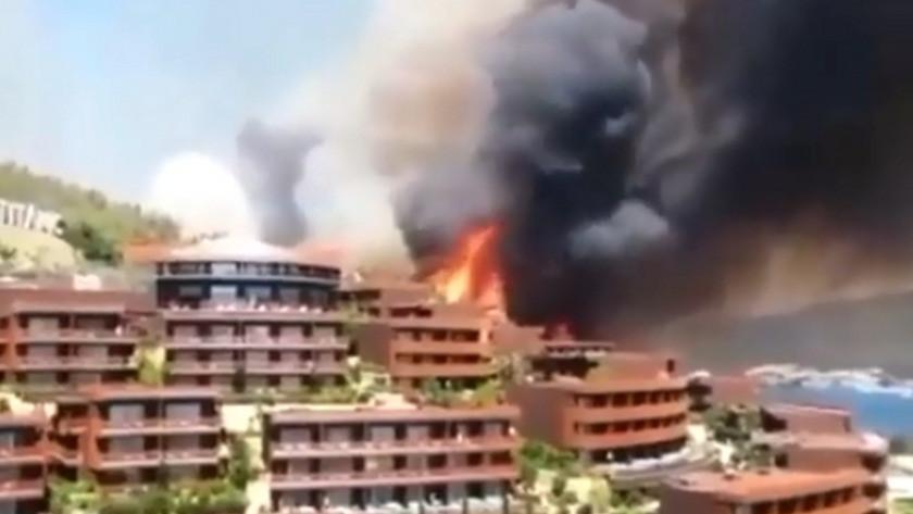Bodrum'daki yangın otele sıçradı! Otel sakinleri tahliye ediliyor