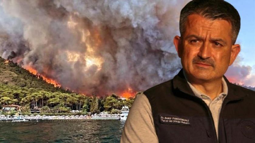 Bakan Pakdemirli açıkladı! İşte Türkiye'de devam eden yangınlar...