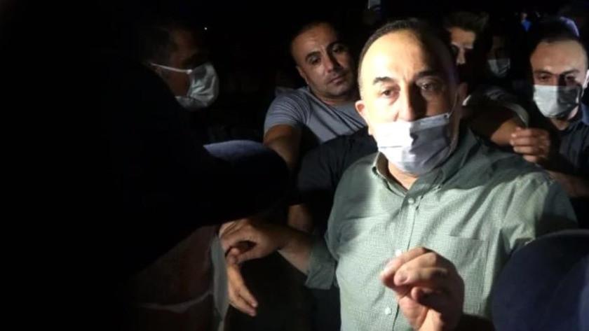 Antalya'da protesto edilen Bakan Çavuşoğlu'ndan ilk açıklama