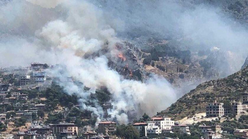 Hatay Antakya'da orman yangını! Evler tahliye edilmeye başlandı!