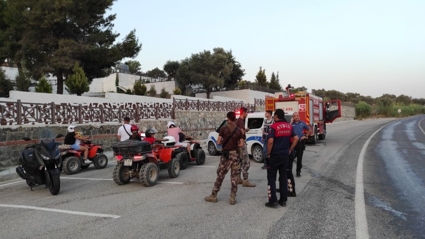 Araziden çıkan duman Özel Harekat polislerini harekete geçirdi