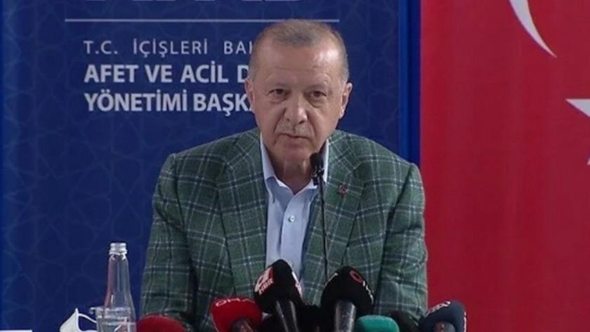 Cumhurbaşkanı Erdoğan afet bölgesinde açıklamalarda bulundu!