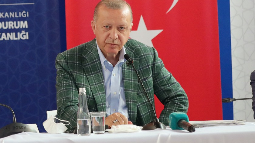 Erdoğan afet bölgesinde! Yapılacak destekleri tek tek açıkladı