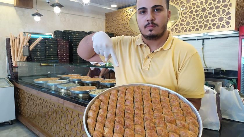 100 fidan bağışı yapana bir kilo baklava kampanyasına yoğun ilgi