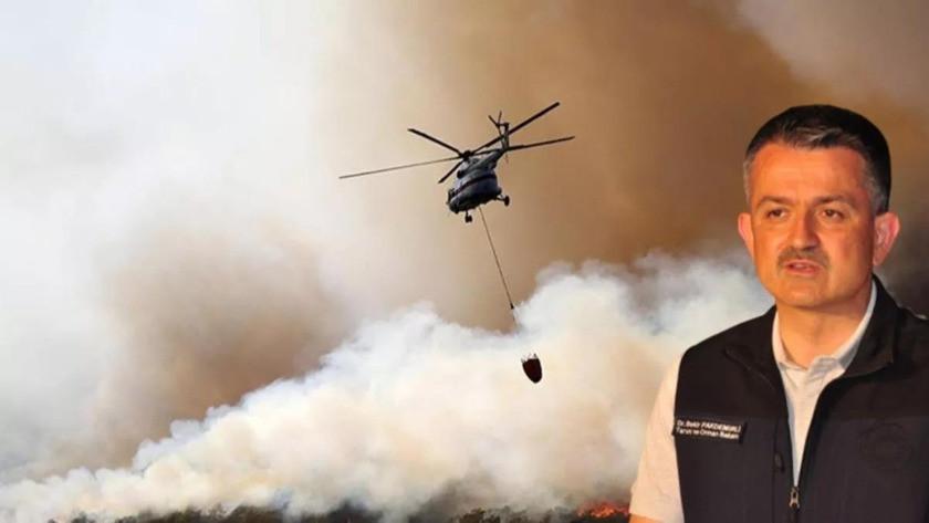 Bekir Pakdemirli: 4 kentte 9 orman yangını devam ediyor
