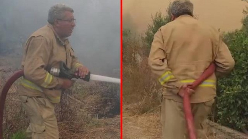 Yangının içinde kalarak can veren işçinin son görüntüleri ortaya çıktı