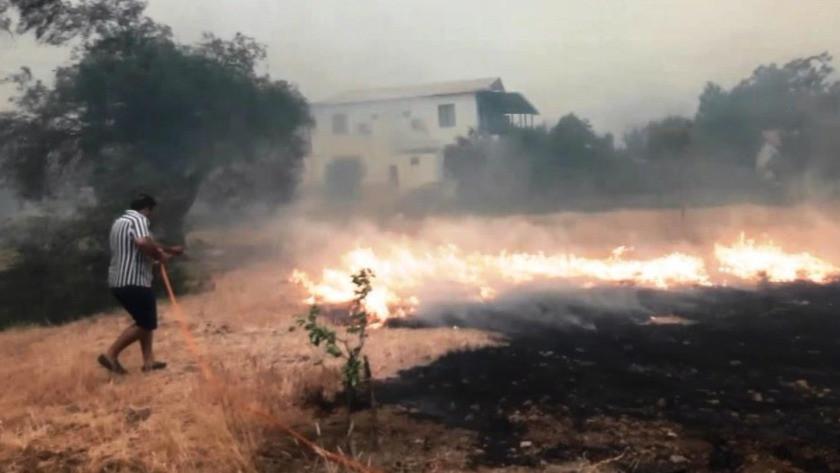 İHA ekibi yangında mahsur kaldı!