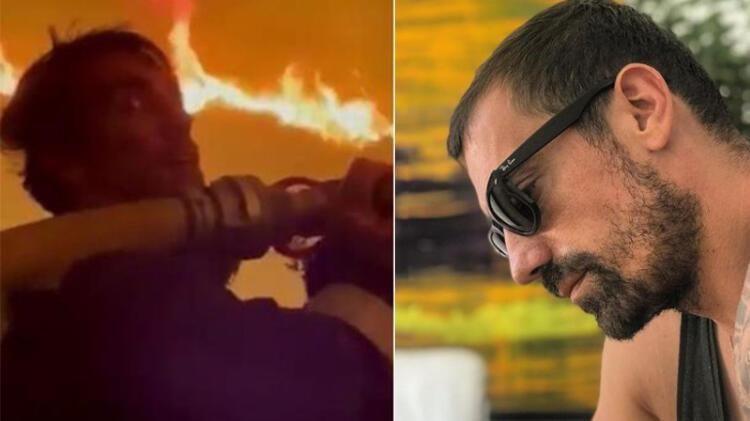 Oyuncu İbrahim Çelikkol Milas'taki orman yangınında alevlerin içine hortumla daldı - Sayfa 2