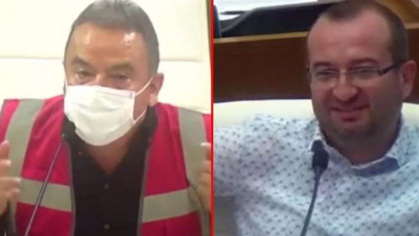 Muhittin Böcek yangınları anlattırken AK Parti sözcüsü kahkaha attı
