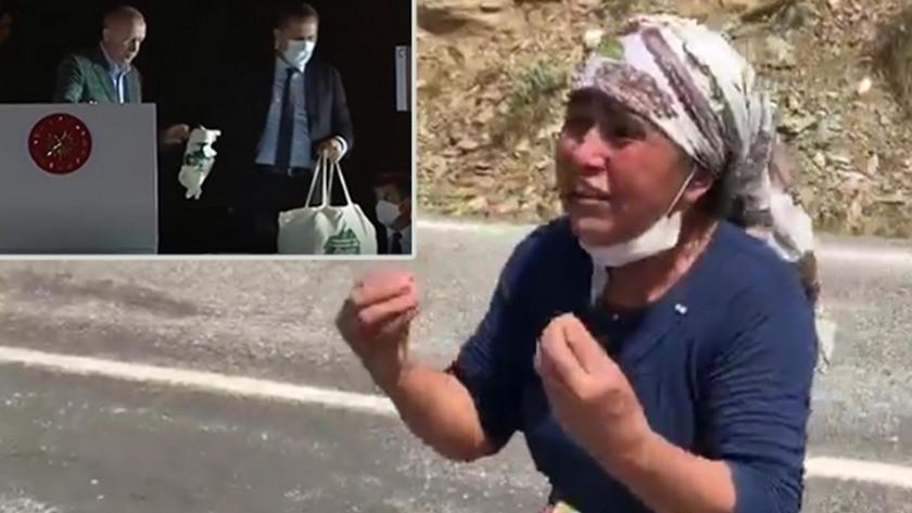 Yangın yerindeki köylüden Erdoğan'a isyan!