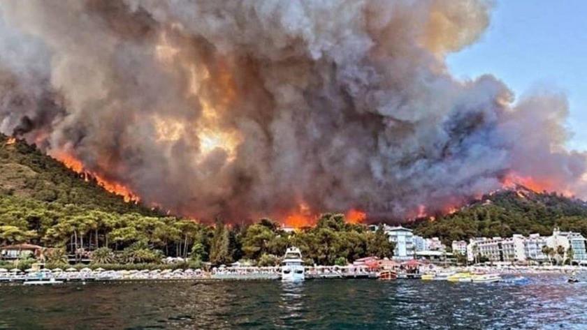 Marmaris'teki yangınlar tamamen söndürüldü