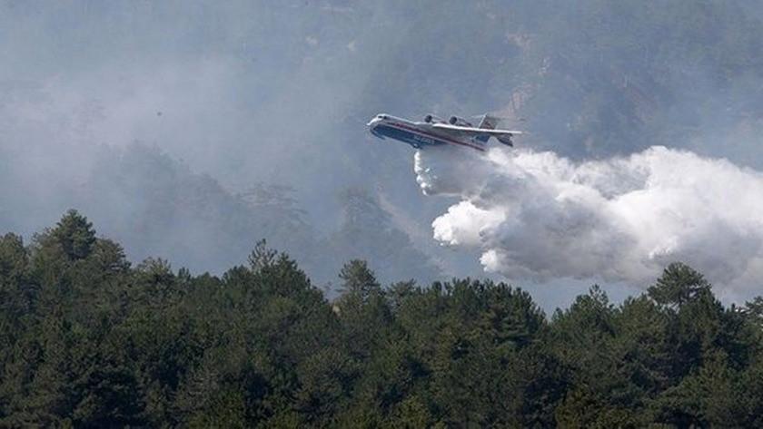 Yangın uçağının su almasını engelleyen jet-ski için soruşturma!