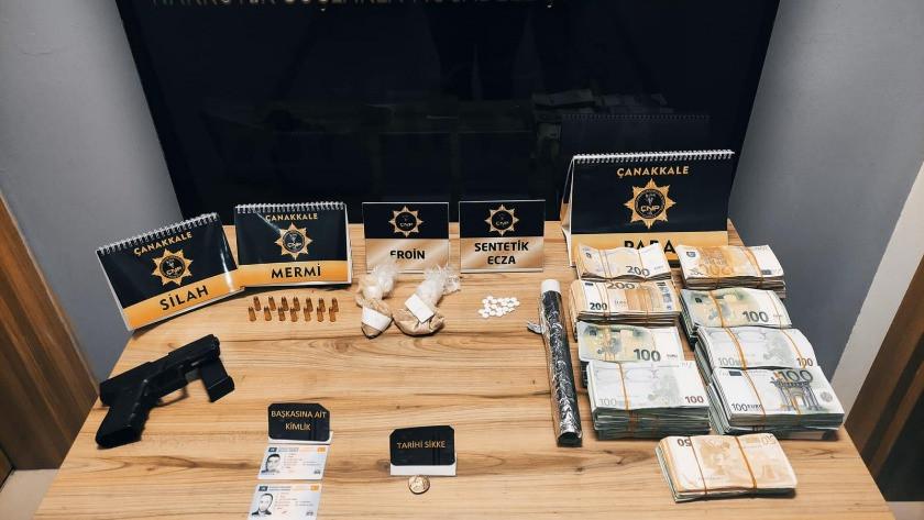 Çanakkale'de dev uyuşturucu operasyonu! 503 bin euro ele geçirildi
