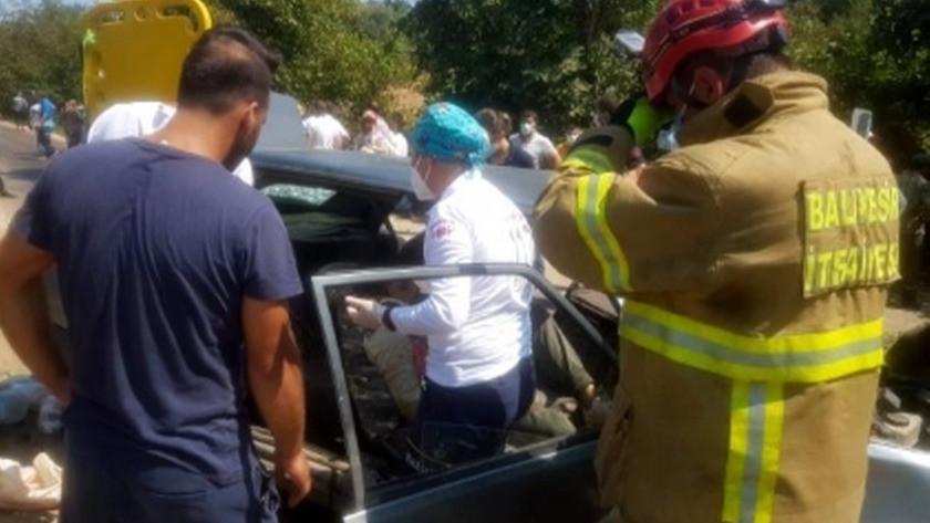 Balıkesir'in Erdek ilçesinde trafik kazası! 5 yaralı