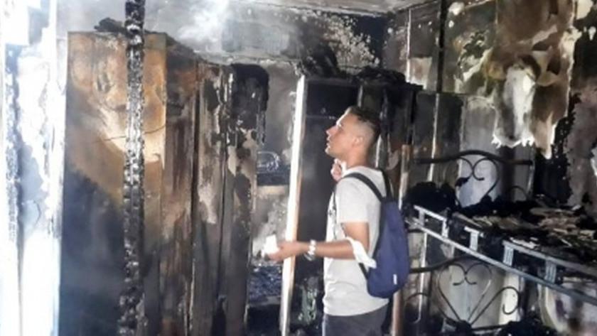 Antalya'da Otel lojmanında çıkan yangın korkuttu!