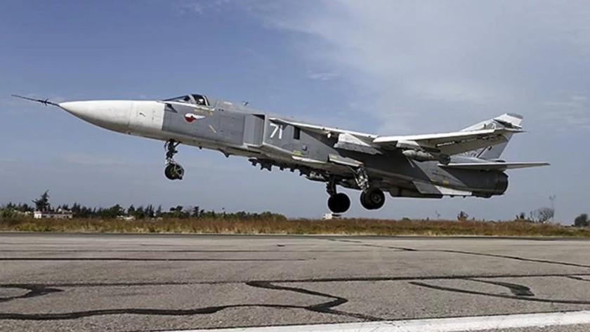 Rusya'da Su-24 tipi savaş uçağı düştü