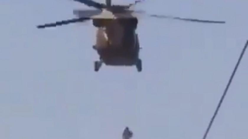 Helikoptere asarak idam ettiler!