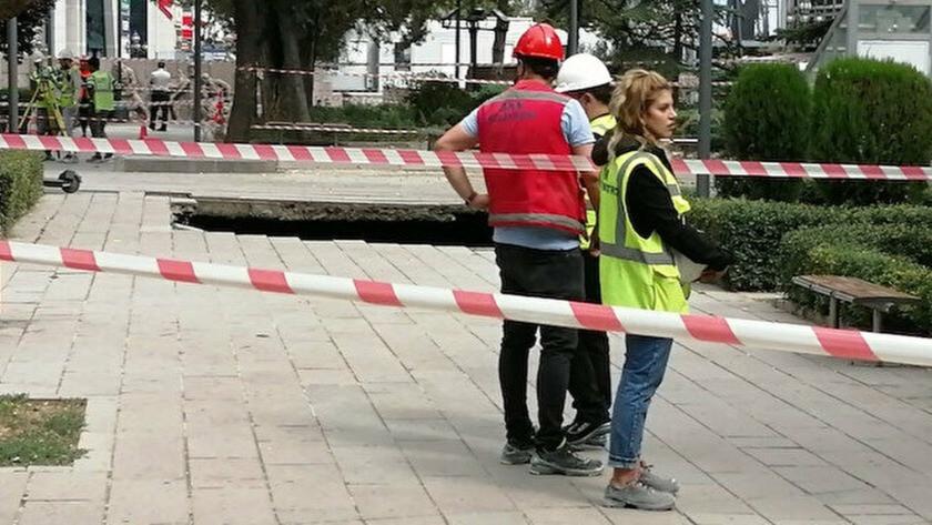 Ankara Güvenpark'ta metro inşaatında göçük