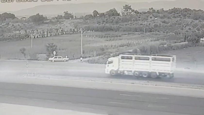 Antalya Manavgat'ta fırlayan kamyon tekerleği can aldı