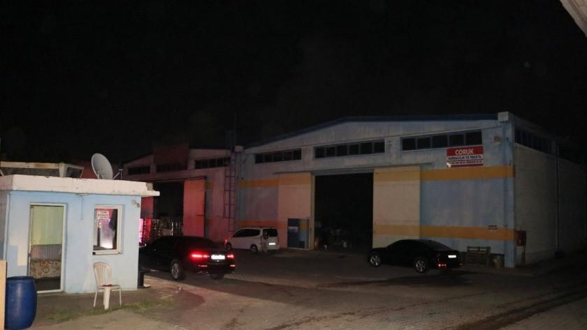 Adana'da tekstil firmasında korkutan yangın