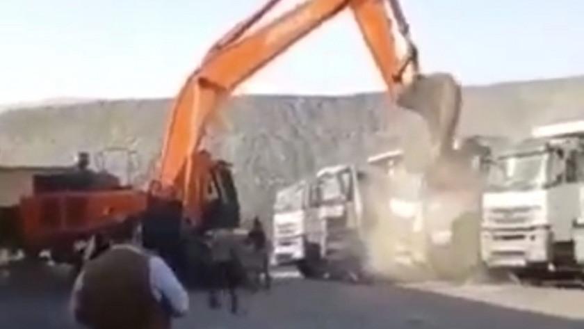 Çalıştığı şirketten parasını alamayınca tüm kamyonları hurdaya çevirdi