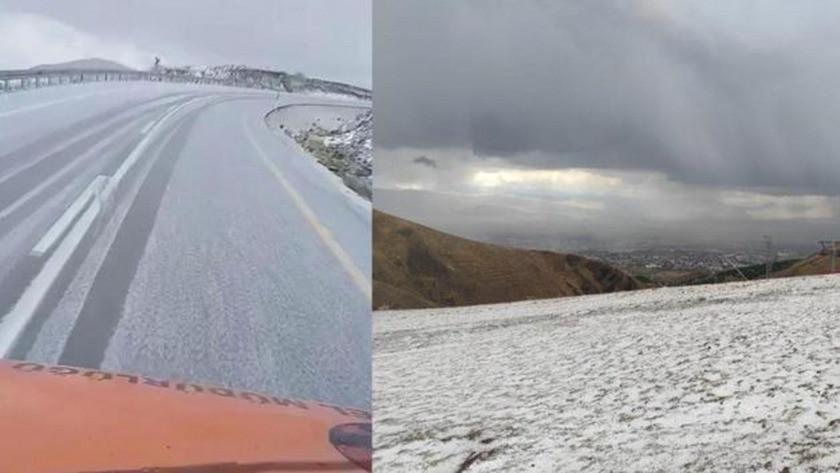 Erzurum'da ilk kar yağışı gerçekleşti