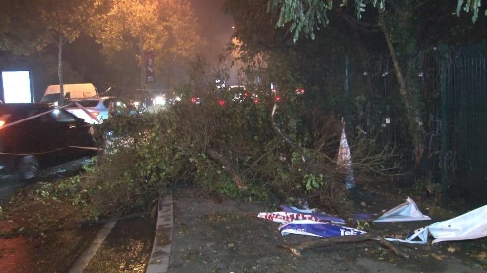 İstanbul'u fırtına ve yağmur fena vurdu! Ağaçlar gövdesinden kırılarak yola devrildi - Sayfa 3