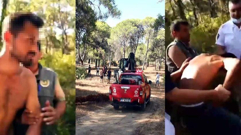 Manavgat'ta ormanı yakmaya çalışıyordu, suçüstü yakalandı