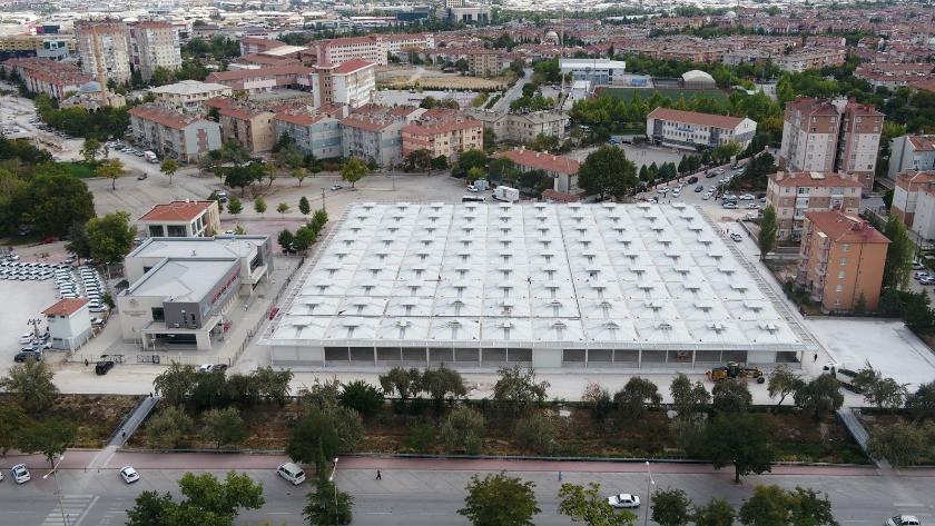Konya Selçuklu'da Dumlupınar Pazar Yeri tamamlanıyor