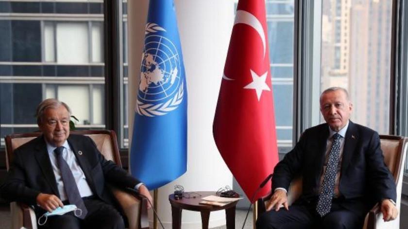 Erdoğan, BM Genel Sekreteri Guterres'le görüştü