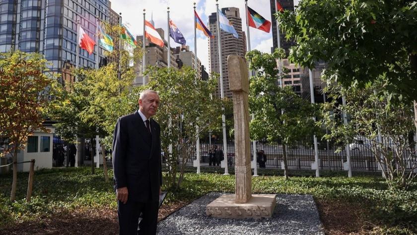 Bakan Mehmet Nuri Ersoy'dan BM'deki Göbeklitepe paylaşımı