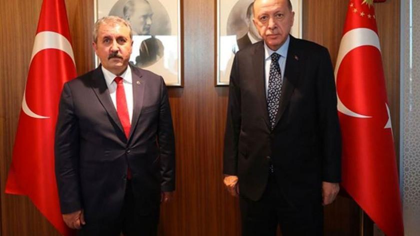 Cumhurbaşkanı Erdoğan New York'ta Mustafa Destici ile görüştü!