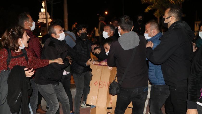 Gece parkta yatmak isteyen öğrencilere polis izin vermedi: 6 gözaltı