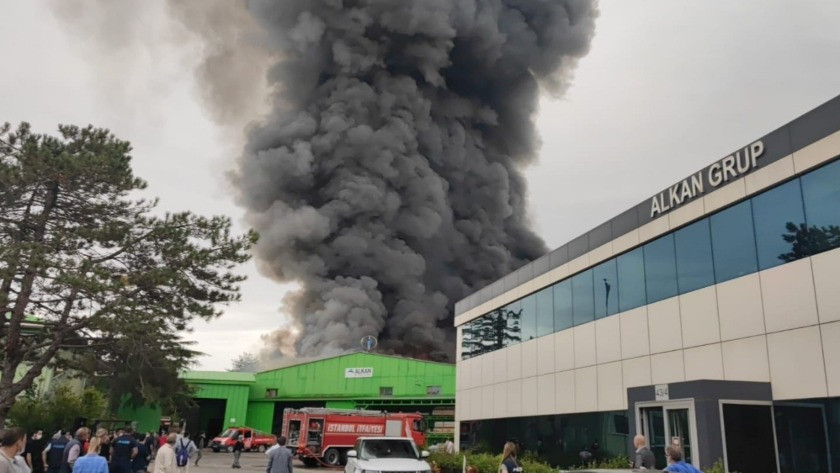 İstanbul Şile'de fabrika'da yangın!