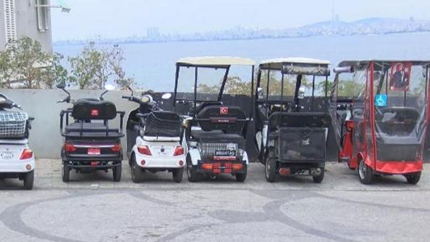 Adalar'da akülü araç tartışması! 5 Ekim'den sonra yasak