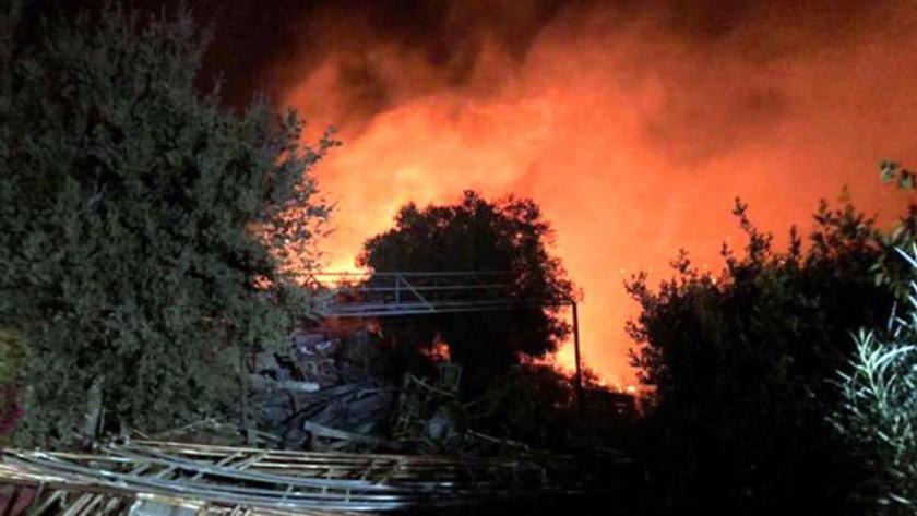 Bodrum'da makilik alanda çıkan yangın büyüdü!