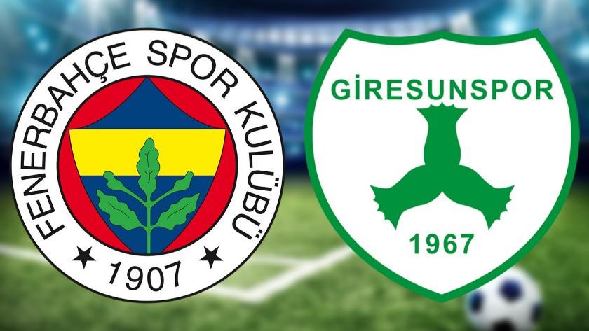 Fenerbahçe Giresunspor maçı saat kaçta?
